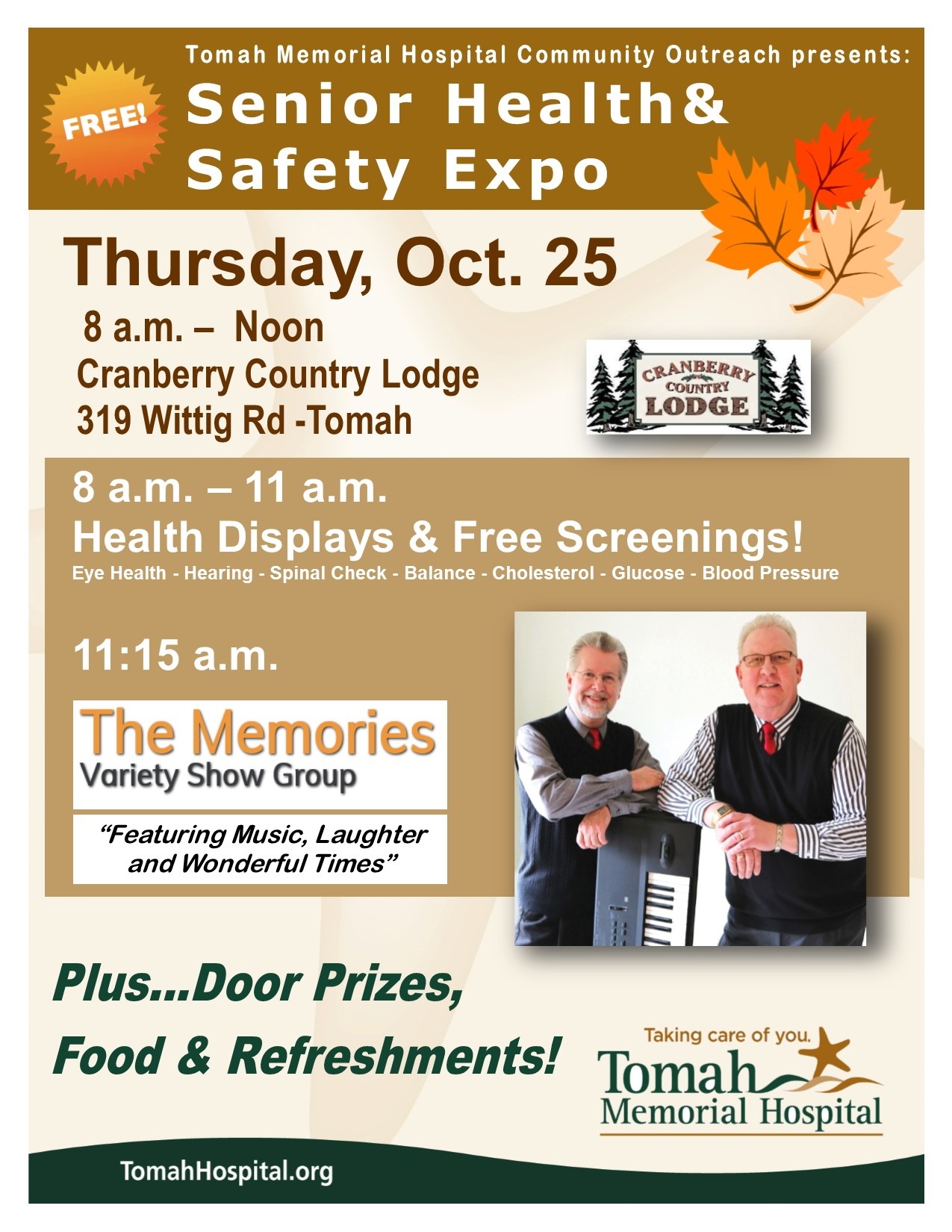 Senior Health Safety Expo 2018 color flier