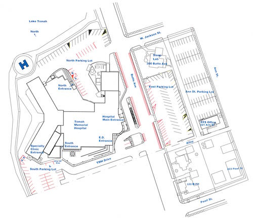 TMH Hospital FacilityMaps Entrances sm