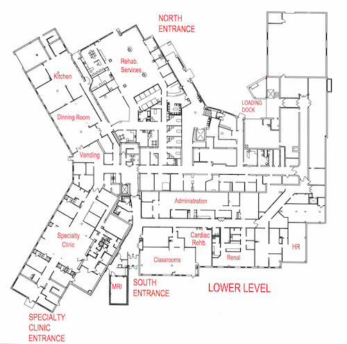 TMH Hospital FacilityMaps LowerLevel sm