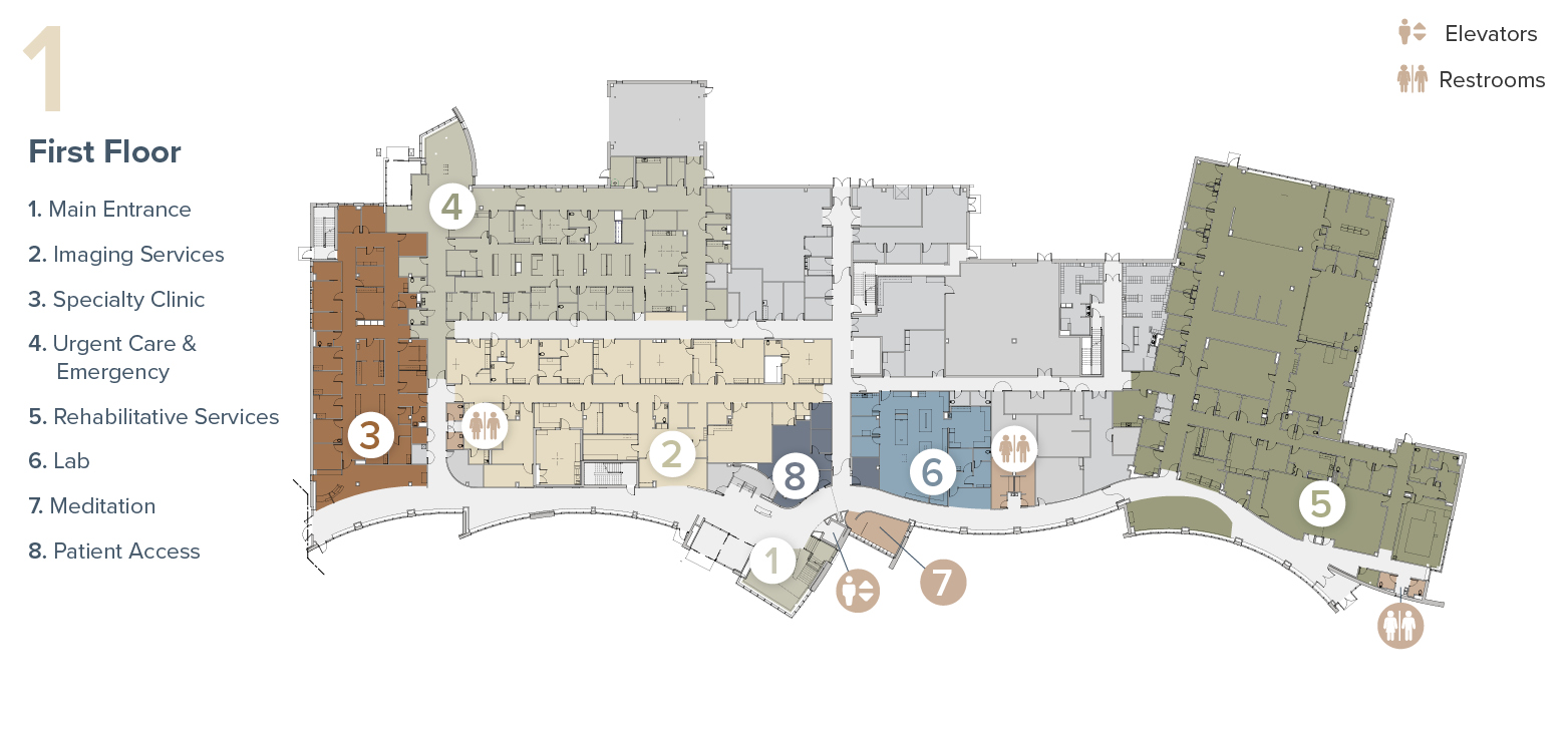 Map of Tomah Health First Floor